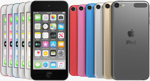 realistic apple ipod touch 3D model