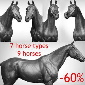horse vfx zbrush ztl 3D model
