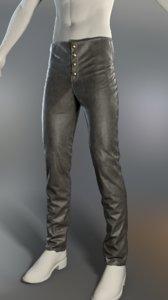 3D pants buttons removable