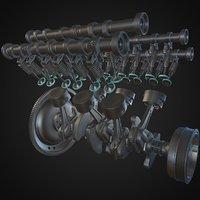 v6 Silnik animowany