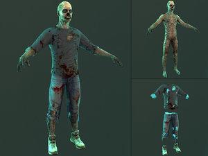 3D zombie character creature model