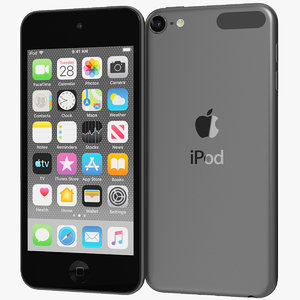 realistic apple ipod touch 3D