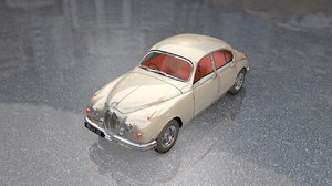 old vintage british mark 3D model