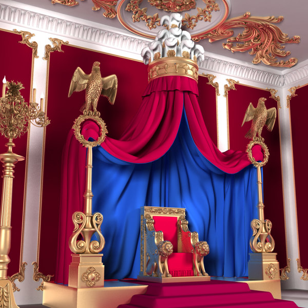 3D throne room x1 interior