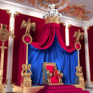 3D throne room x1 interior