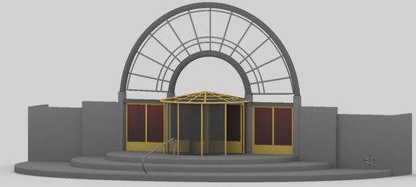revolving door 3D