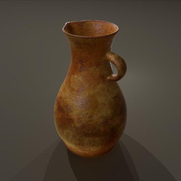 3D terracotta vase model