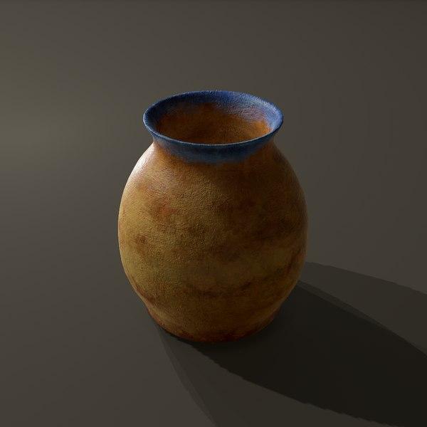 terracotta jar 3D model