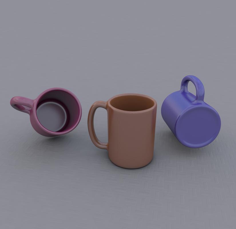 3D mug editable
