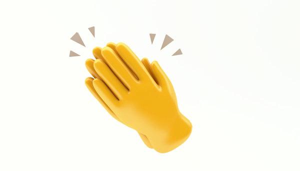 3D emoji hand