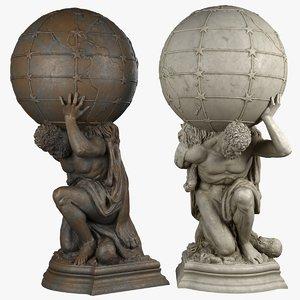 atlas sculpture bronze 3D model