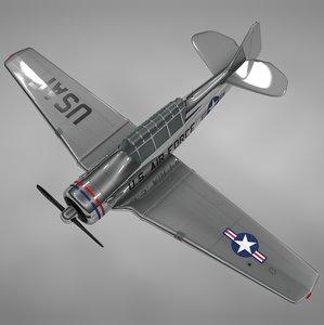 t6 texan air force 3D