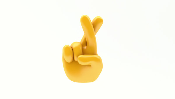 3D model emoji hand