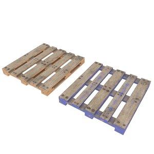 pallets unity clean 3D model
