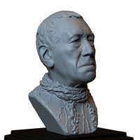 printable bust portrait eyed 3D model