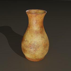 3D terracotta vase