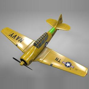 t6 texan navy memphis 3D model