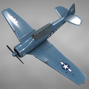 t6 texan navy l149 3D model