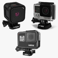 GoPro Cameras 3D Models Collection 4