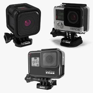 gopro cameras 4 cam 3D model