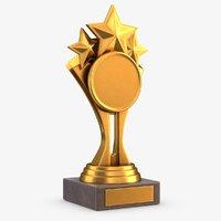 gold trophy 7 3D model