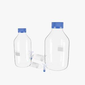 3D bottles 2 model