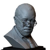 printable bust portrait bernard 3D model