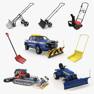 snow removal equipment 3 3D model