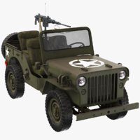 real willys army jeep 3D model