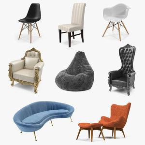 3D furnishings modern plastic