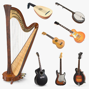 3D stringed instruments 3 model