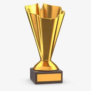 3D model gold trophy 1