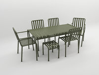 olive palissade table&chair set hay design