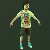 boy zombie 3D model