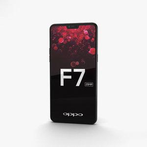 3D model oppo f7 f