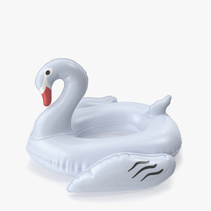 3D white swan pool float