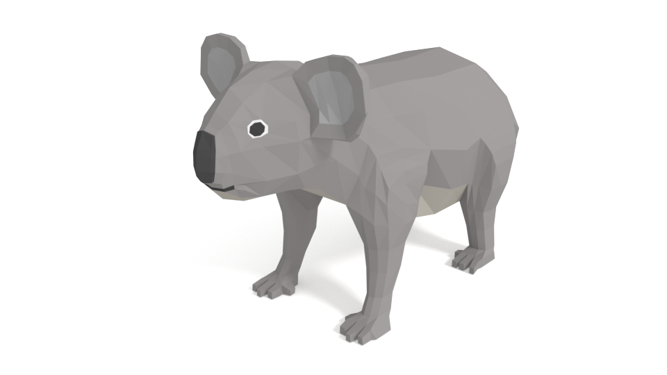 cartoon koala 3D