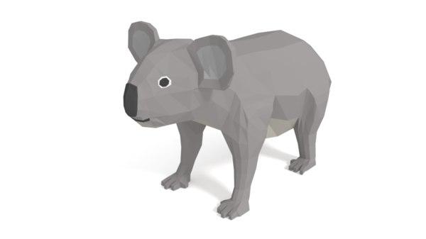 cartoon koala 3D
