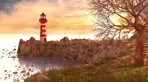 lighthouse light 3D model