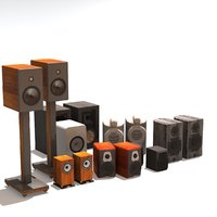 speakers passive wood 3D