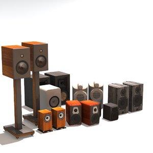 speakers passive wood 3D
