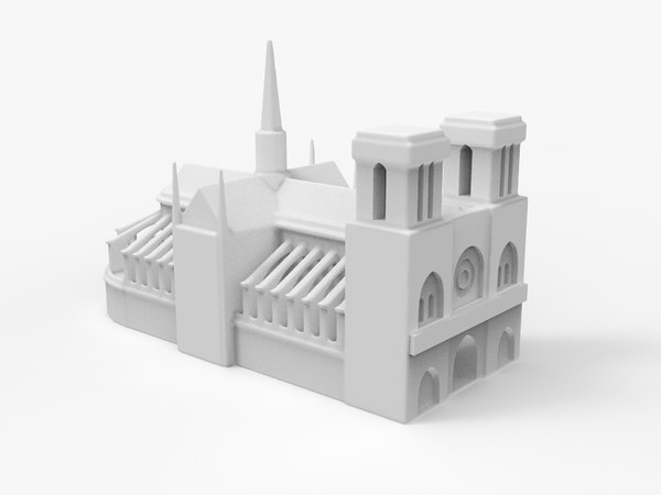 3D cathedral print model