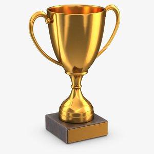 3D gold trophy 2