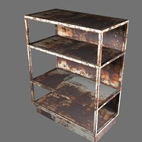 Rusty  Metal Shelf Model