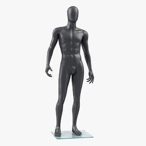 3D male mannequin dark standing