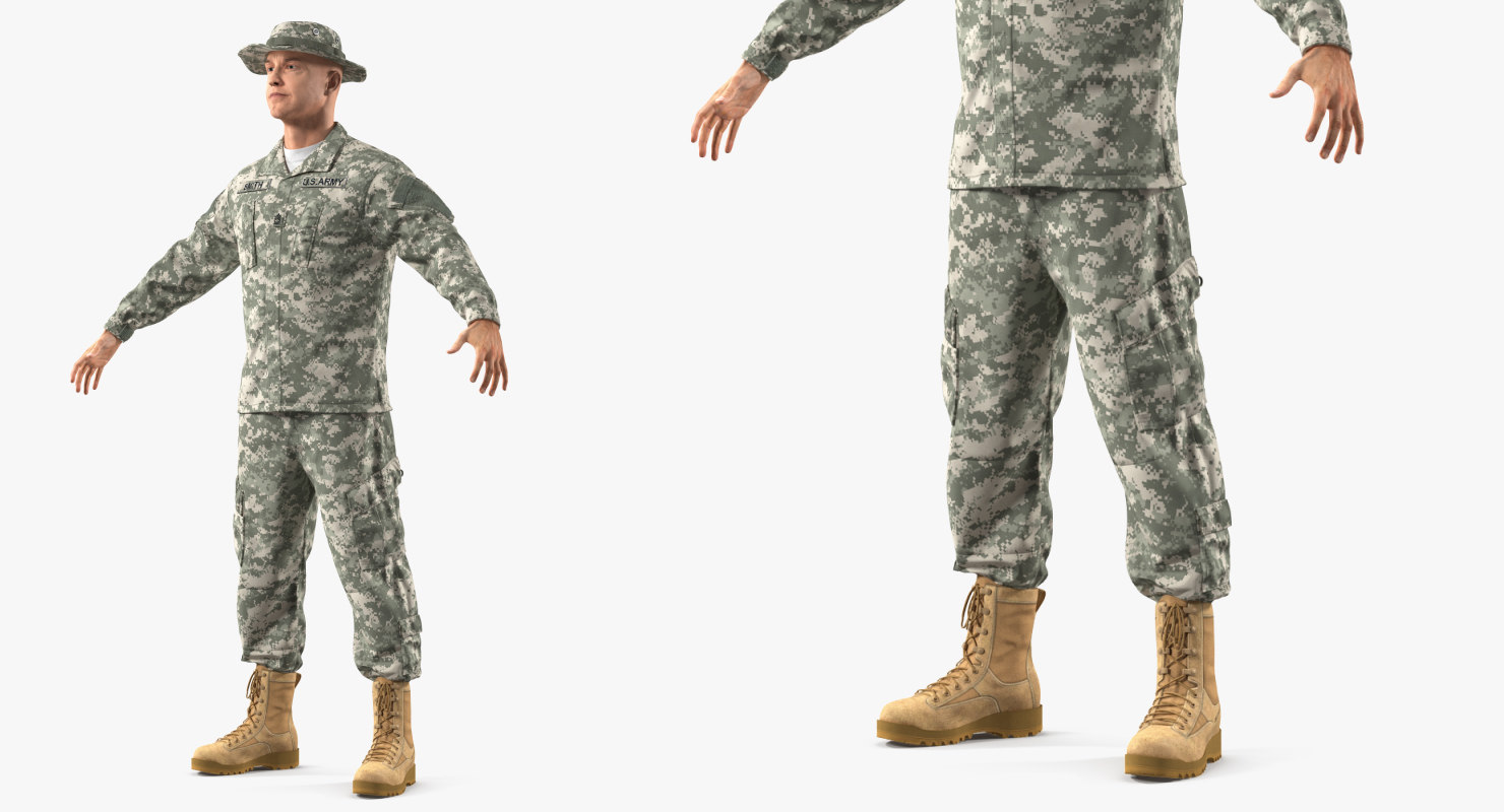 US Army Soldier Military ACU Rigged