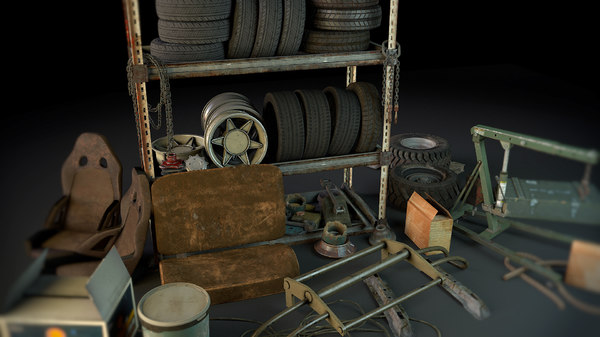 3D model rack garage