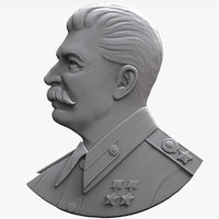 Stalin medal bas relief