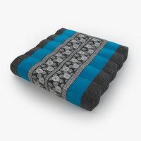3D model thai mattress pillow blue