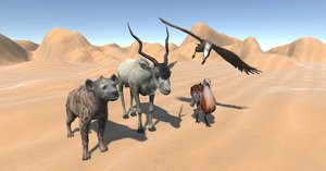 african animals pack - 3D model